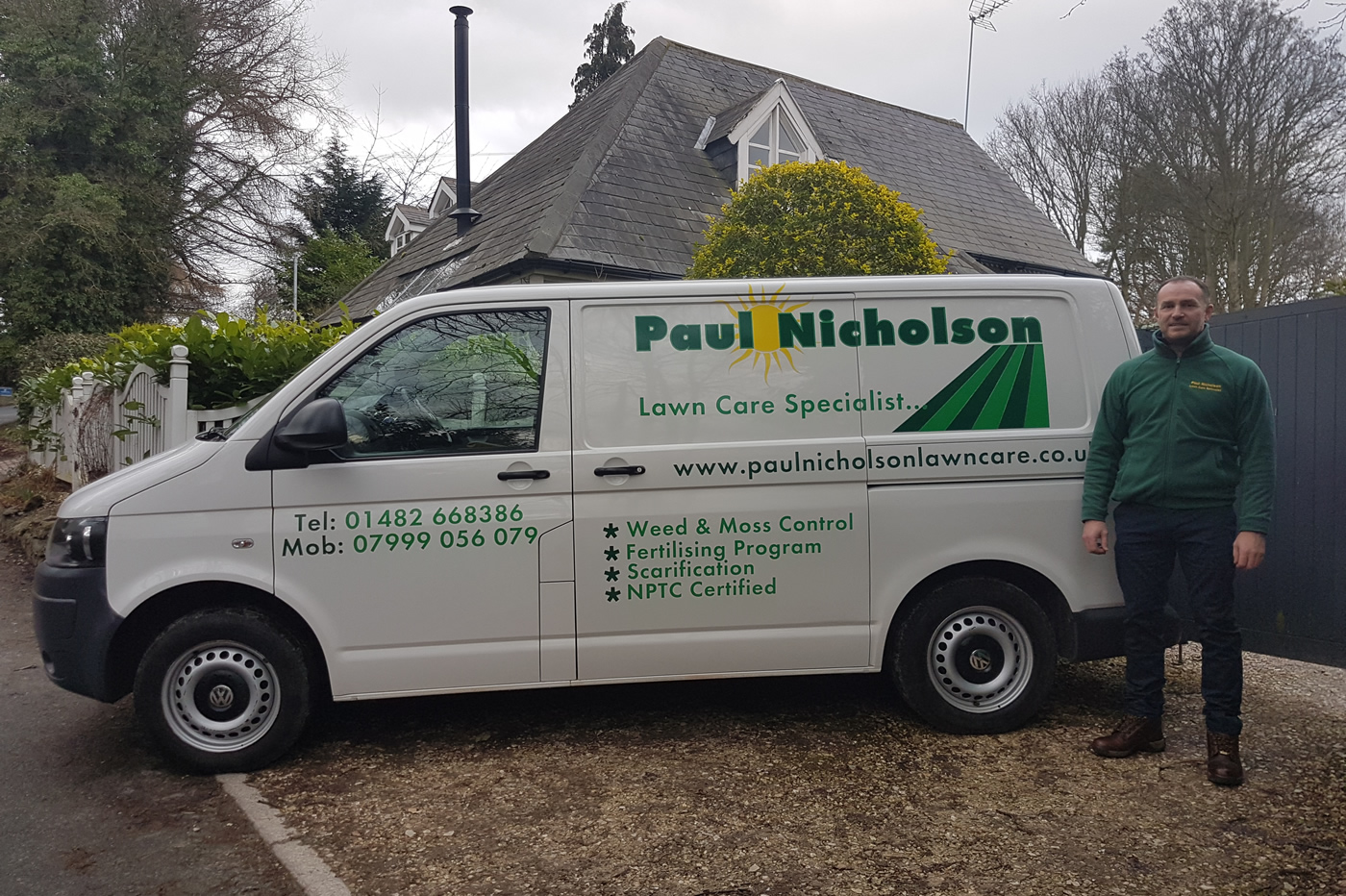 Paul nicholson lawn care hull and east riding for Garden maintenance van